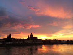 Tramonto a Firenze.