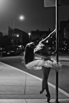 Ballerina in the street