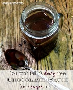A recipe for dairy and sugar free chocolate sauce.