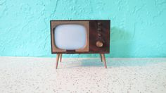Tiny Television TV Console Salt and Pepper Shaker, 1950's Mid-Century Modern Kitsch Collectibles, Retro Salt and Pepper Shakers Kitchen Gift on Etsy, $14.00