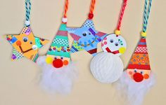 『木と紙のゆきだるまオーナメント』をつくろう! | くふうのたまご Christmas Origami, Christmas Ornament Crafts, Kids Christmas, Christmas Decorations, Diy And Crafts, Crafts For Kids, Arts And Crafts, Paper Crafts Origami, Christmas Activities