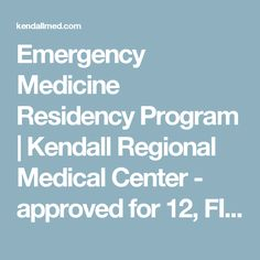15 Best Emergency Medicine Residency, FL images in 2017 | Emergency