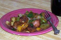 Glo's Kitchen: Summer Vegetables with Sausage and Potatoes