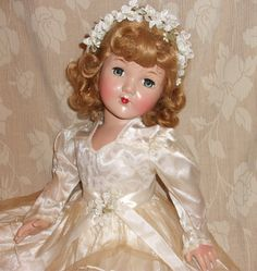"27"" Honey Portrait Doll Effanbee Composition 1940's Stunning Beauty Bride 
