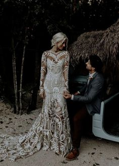 Modest wedding dress mermaid lace wedding dresses with long sleeves - wedding - brautkleid Wedding Dress Mermaid Lace, Mermaid Dresses, Dream Wedding Dresses, Wedding Dress Styles, Bridal Dresses, Maxi Dresses, Prom Dresses, Long Sleeve Wedding Dress Boho, Summer Dresses