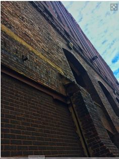 Multi-Textured Building Facade. by Angie Jonas. I particularly like the upper left section because of its varied textures & subtle hues! OTOH, the off-center pitch of the wall vs the patch of sky (water?) feels ominous!   Angie's photo saved to Angie Jonas Photography