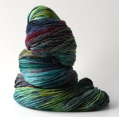 "Hand dyed yarn ""Hummingbird"" from Wren House Yarns"