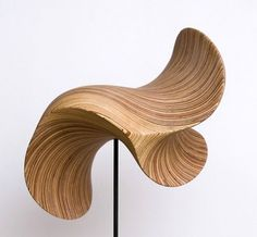 Designer and sculptress Christina Jekey uses plywood in her art.
