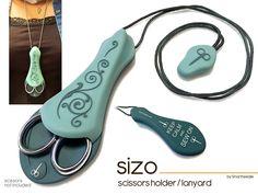 Scissor Holder 'Sizo' By Smartneedle. Lanyard Scissor Holder, (AQUA) * Click on the image for additional details.