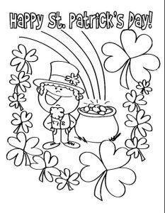 ST. PATRICK\'S DAY COLOURING PAGE | St. Patrick\'s Day | Pinterest ...