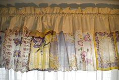 Vintage Handkerchief Curtains