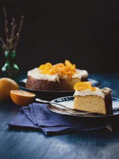 Flourless Orange Cake (A Table For Two) {adapted from recipe by Nigella Lawson}