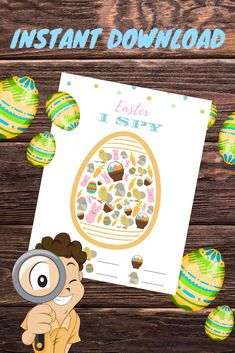 Need a quick Easter activity? Try this I Spy printable. Whether kids race to finish or do at their own pace, they will love to search for the colorful Easter symbols inside of the egg. Easter Activities, Activities For Kids, Crafts For Kids, Diy Crafts, Easter Symbols, Easter Printables, Free Printables, Easter Crafts, Easter Ideas