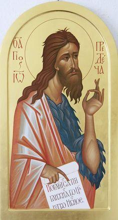 Orthodox Christianity, Religious Icons, Orthodox Icons, Patron Saints, Angel, San, Painting, John The Baptist, Costumes
