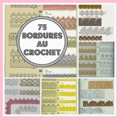 MES FAVORIS TRICOT-CROCHET: 75 bordures au crochet