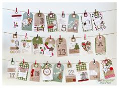 Tag Advent by Thienly Azim - using Unity Stamps Advent{full} Seasons and Donna Downey's Advent