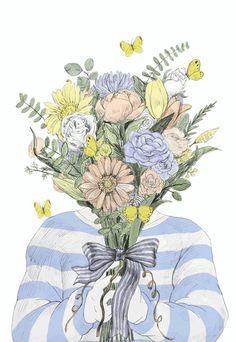 Maori Sakai - Beautifully Illustrated Animated GIFs Of Flowers, Food, Animals…