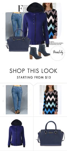 """""""Dresslily # 4"""" by zbanapolyvore ❤ liked on Polyvore featuring Michael Kors and Steve Madden"""