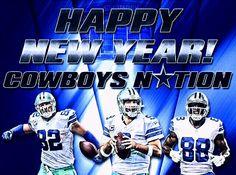 Happy new year cowboy fans Cowboys 4, Dallas Cowboys Football, Cowboy Love, Jason Witten, How Bout Them Cowboys, Tony Romo, Happy Tears, American Football
