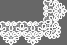 Сколок — Оплет «Кудрявый», шир. 15,5 см. Lace Patterns, Textile Patterns, Dress Patterns, Embroidery 3d, Hand Embroidery Designs, Hobbies And Crafts, Diy And Crafts, Romanian Lace, Point Lace