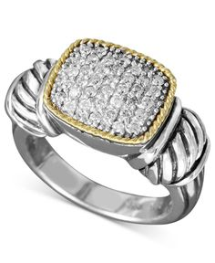 Balissima by Effy Diamond Diamond Rectangle (1/3 ct. t.w.) in 18k Gold and Sterling Silver