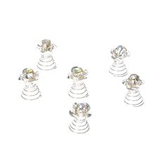 <P>Bring romantic bling to hair with this set of hair jewels. Shiny sivler roses are accented with iridescent crystal centers for beautiful style. Use one or all to create fabulous hair styles.</P><UL><LI>Set of 6 <LI>Rose design <LI>Spin clip grip</LI></UL>