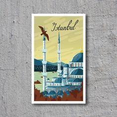 ca.1939 Istanbul // High Quality Fine Art Reproduction Giclée Print // Original Vintage Travel Poster / Canvas / Sticker by WiredWizardWeb on Etsy