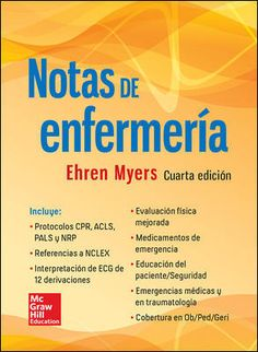 """Notas de enfermería : cuarta edición"" / Ehren Myers. México, D.F. : McGraw-Hill Interamericana, cop. 2015. Matèries : Infermeria. #nabibbell Nclex, Mcgraw Hill, Ebook Pdf, Study, Nursing, Spanish, Ballet, Entertainment, Fitness"