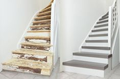 Traprenovatie – Gebroeders Janssen - Lilly is Love Staircase Storage, Staircase Makeover, Open Trap, Wooden Stairs, House Stairs, Under Stairs, Industrial Interiors, Home Reno, Woodworking Projects Plans
