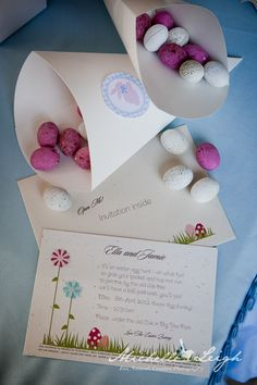 Easter invitation by Little Flamingo, Styling by Sweet Little Birdy
