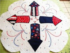 4th of July Quilted Table Mat