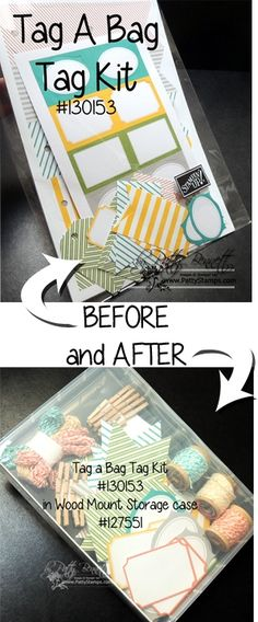 www.PattyStamps.com - get organized in your craft room with the Stampin Up wood mount storage boxes