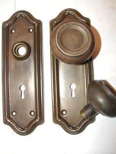 Antique doorknobs & plates