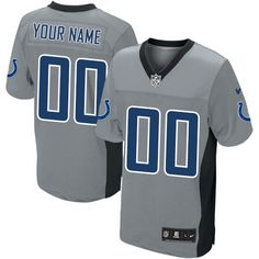 0c25e8163 Men s Nike Indianapolis Colts Customized Limited Grey Shadow NFL Jersey  Indianapolis Colts