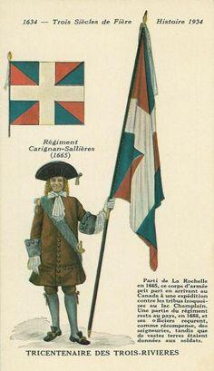 Officer with the regimental color of the régiment de Carignan-Salières