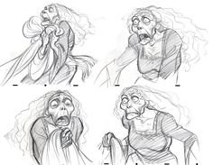 Mother Gothel Concept Sketches