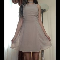 Forever21 Camel Dress Has some stains on the back, but is in good condition Forever 21 Dresses Midi