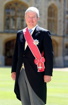 A rare view of a full set of the Order of the British Empire, Sir Keith Mills at his investiture at Windsor Castle. Mills is also a knight bachelor and deputy lieutenant.