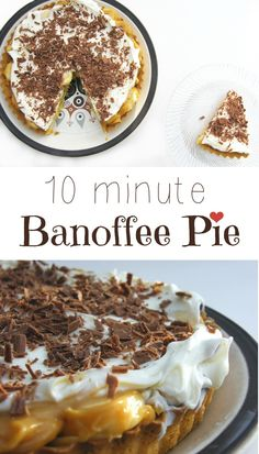 A luxurious banoffee pie made in 10 minutes. A cheats version, but it's droolworthy, especially the salted caramel sauce that coats the bananas. Quick make it! #dessert #quickdessert #veggie