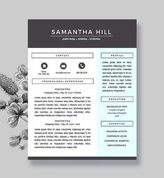 Mallory Cox Is A Professional Resume Template Perfect For Anyone