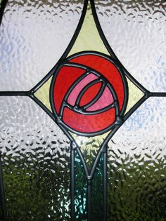 Mackintosh Rose Stained Glass - speaks to me!
