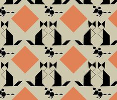 Tangram_cats_and_mice fabric by bugs4 on Spoonflower - custom fabric