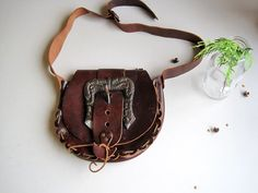 Boho hand made tooled vintage hippie leather shoulder bag purse brown dark red made in Spain festival bag on Etsy, kr Vintage Hippie, Gifts For Wife, Dark Red, Leather Shoulder Bag, Saddle Bags, Style Ideas, Purses And Bags, Fashion Accessories, My Etsy Shop