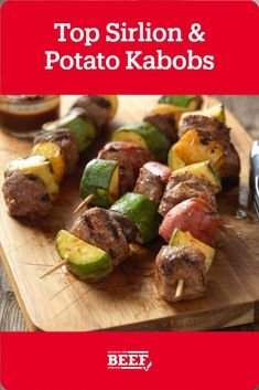 Whether you use the microwave at home or an outdoor grill to expedite the cooking process for these tasty beef and potato kabobs, your family will enjoy these tasty and easy kabobs. Easy Campfire Meals, Campfire Recipes, Campfire Food, Top Sirloin Steak, Beef And Potatoes, Kabob Recipes, Kabobs, Recipe Today, Microwave