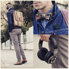 What My Boyfriend Wore  - Casual days in a bow tie and backpack!    Jacket...