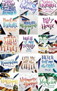 Hand Lettering Alphabet, Brush Lettering, Cute Qoutes, Chalkboard Art, Letter Art, Brush Pen, Keanu Reeves, Pens, Resin