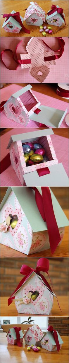 DIY Bird Nest Gift Box-Cajitas Más You are in the right place about valentines day gifts for him Here we offer you the most beautiful pictures about the valentines day you are looking for. When you examine the Cajitas Craft Gifts, Diy Gifts, Hobbies And Crafts, Diy And Crafts, Diy Papier, House Gifts, Diy Box, Diy Gift Box, Paper Gifts
