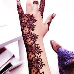 Rose Mehndi Designs, Stylish Mehndi Designs, Dulhan Mehndi Designs, Arabic Mehndi Designs, Latest Mehndi Designs, Henna Tattoo Designs, Best Mehndi, Henna Mehndi, Mehendi