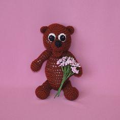 Handmade teddy bear  crochet teddy doll  crochet bear doll