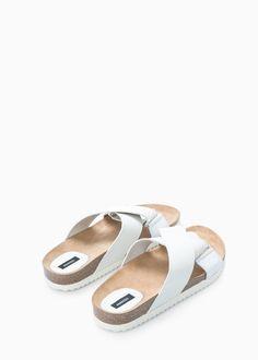 SPECIAL SIZES - Skórzane skrzyżowane sandały